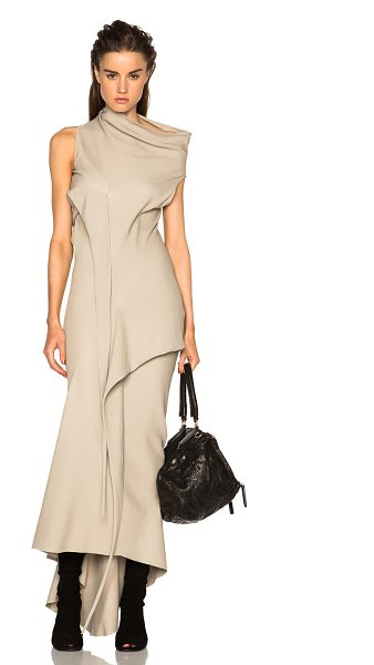 Rick Owens Vincente bias tied dress in neutrals - 98% viscose 2% elastan.  Made in Italy.  Unlined. ...