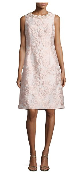 RICKIE FREEMAN FOR TERI JON Sleeveless Floral Jacquard Cocktail Dress - Rickie Freeman for Teri Jon cocktail dress in floral...