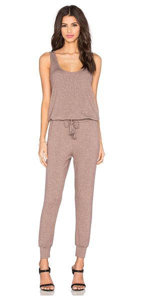 Riller & Fount Ali Sleeveless Jumpsuit in taupe - Modal blend. Dry clean only. Drawstring waist. Cuffed...