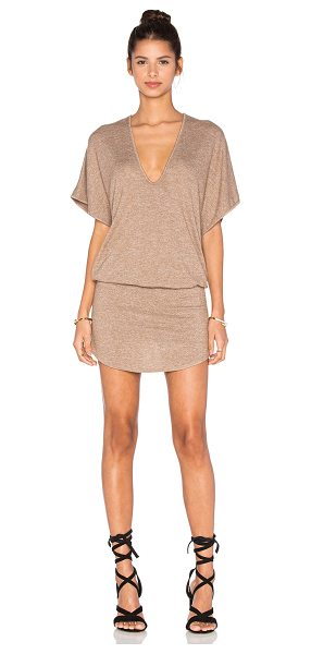 Riller & Fount Bo romper with shirttail skirt in brown