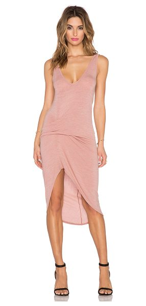 Riller & Fount Cristiano dress in blush - 74% rayon 21% poly 5% spandex. Dry clean only. Unlined....