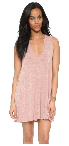 Riller & Fount Daley a line mini dress in rosegold - A swingy Riller & Fount mini dress with a soft feel....