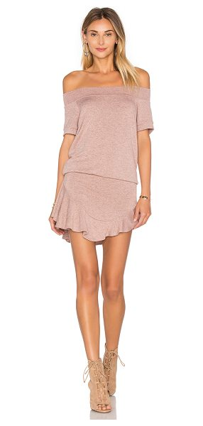 Riller & Fount Jordy romper in mauve - 95% rayon 5% spandex. Dry clean only. Skirt overlay....