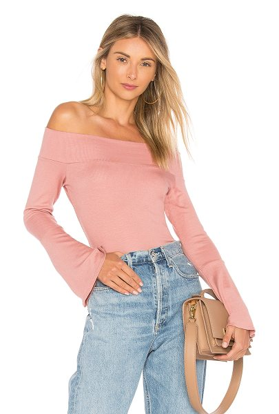 Riller & Fount Kayla Top in pink - 97% modal 3% spandex. Dry clean only. Elasticized...