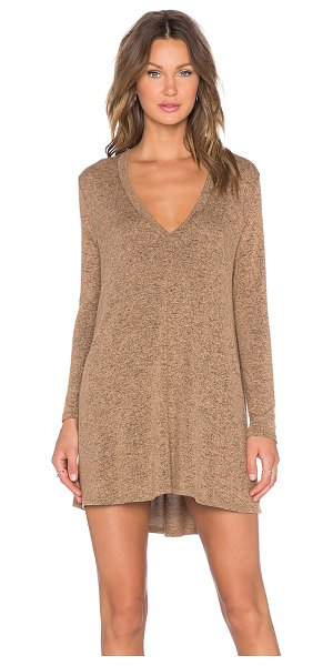 Riller & Fount Kevin tunic in tan - 74% rayon 21% poly 5% spandex. Dry clean only. Unlined....