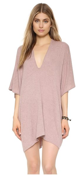 Riller & Fount Lola caftan in rosette - A simple Riller & Fount caftan in soft jersey. Deep V...