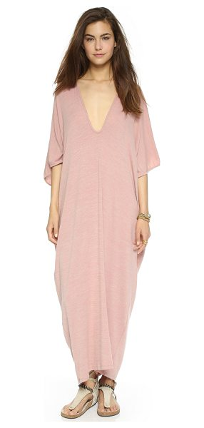 Riller & Fount Luca caftan midi dress in rosegold - A Riller & Fount dress in a voluminous silhouette. V...
