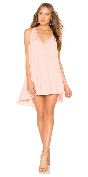 Riller & Fount Rosemary Dress in pink - 100% rayon. Dry clean only. Fully lined. Asymmetrical...