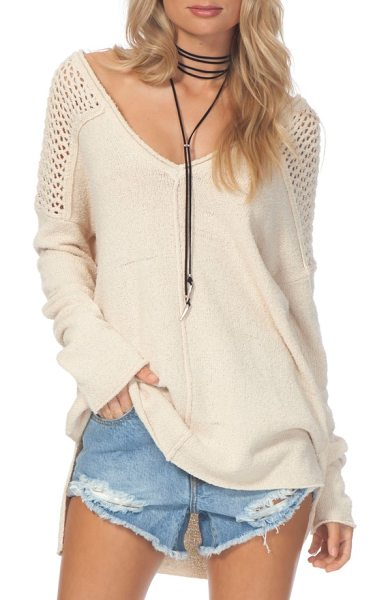 Rip Curl sadie pullover in natural - Open-knit details contribute to the breezy appeal of a...