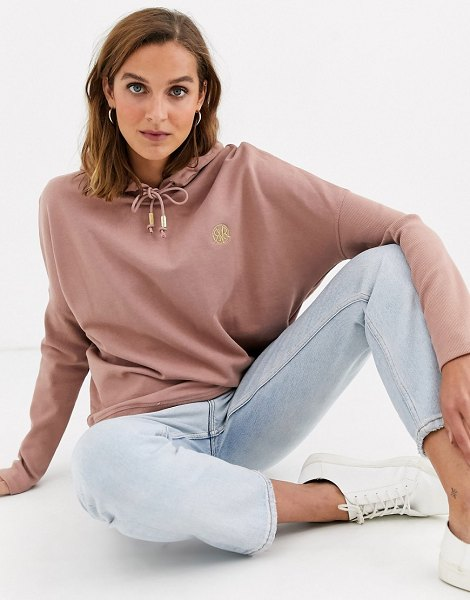 River Island batwing hoody in pink in pink