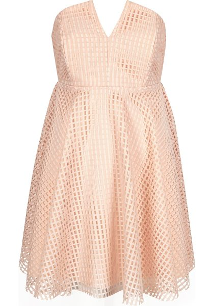 RIVER ISLAND light pink bandeau waisted prom dress - Woven jacquard fabric Bandeau neckline with V-notch...