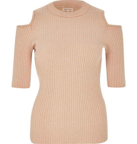 River Island light pink knit cold shoulder top in pink - Lightweight fabric Stretch to fit Crew neck Mid sleeve...