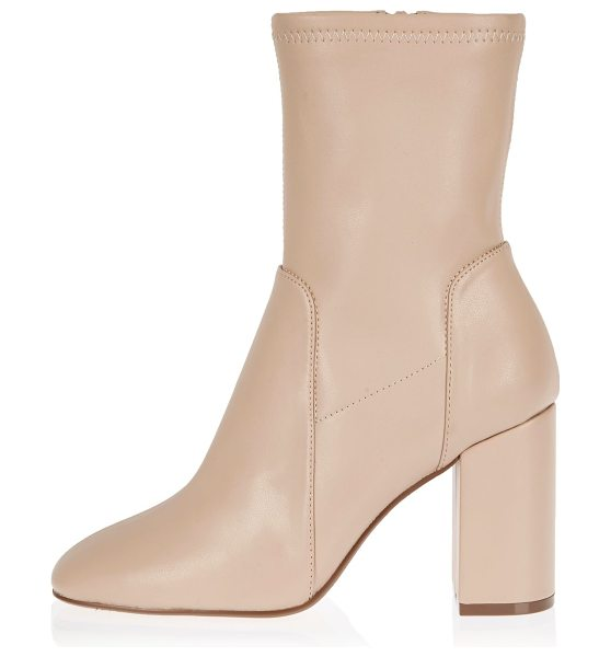 RIVER ISLAND light pink stretch ankle boots - Leather look Stretch ankle boot Round toe Block heel...