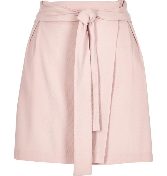RIVER ISLAND light pink waisted wrap skirt - Choose this light pink woven skirt for a chic daytime...