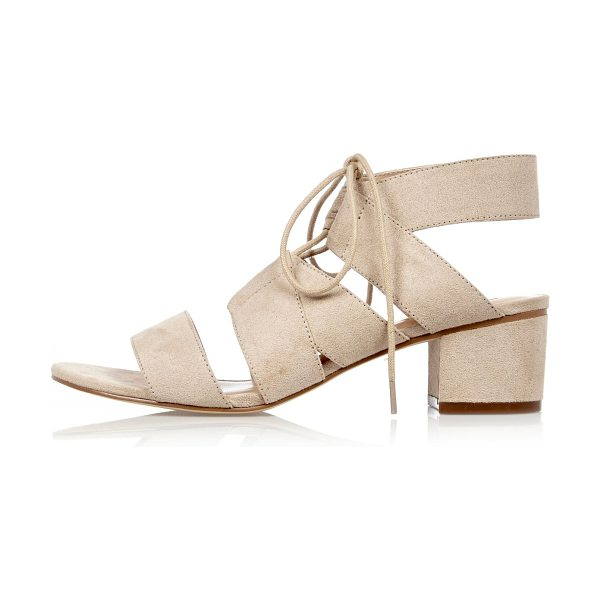River Island nude block heel sandals in nude