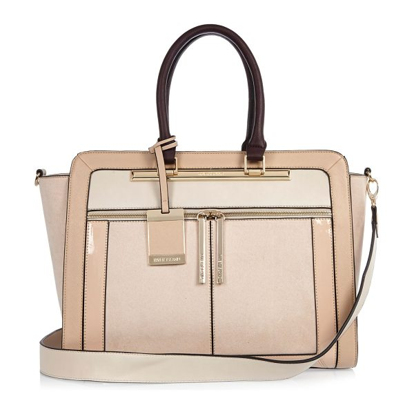 RIVER ISLAND nude structured tote bag - Structured shape Contrast panelling Grab handles...
