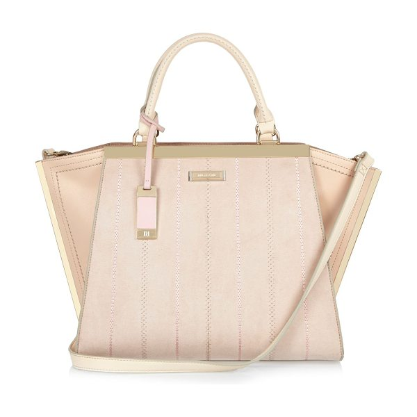River Island nude winged tote bag in nude - Smooth central panel Stitch detail Large winged tote...