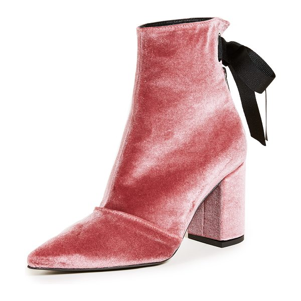 Robert Clergerie x self-portrait karlit lace up booties in pink - A collaboration with Self Portrait, these pointed-toe...