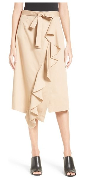 Robert Rodriguez asymmetrical ruffle skirt in khaki - A raw-edged ruffle gives a sense of undone femininity...