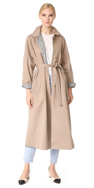 Robert Rodriguez reversible trench coat in camel - A reversible Robert Rodriguez trench coat with a neutral...