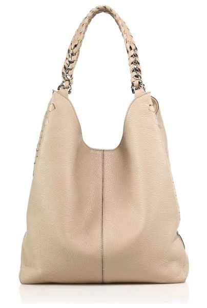 Roberto Cavalli Whipstiched leather tote in desertsand - A slouchy take on the timeless tote silhouette, crafted...