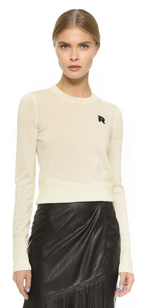 Rochas Long sleeve sweater in natural - A soft, lightweight Rochas sweater with timeless appeal....