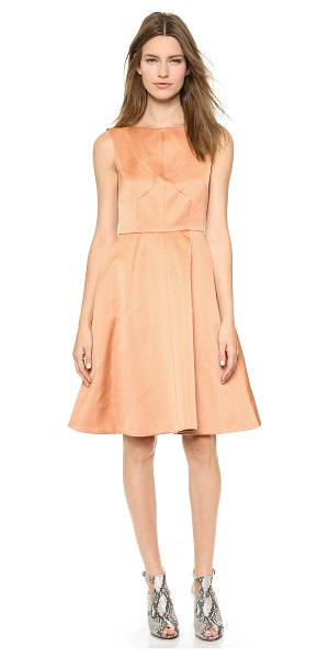 ROCHAS Sleeveless dress - Paneled construction lends a tailored fit to a...