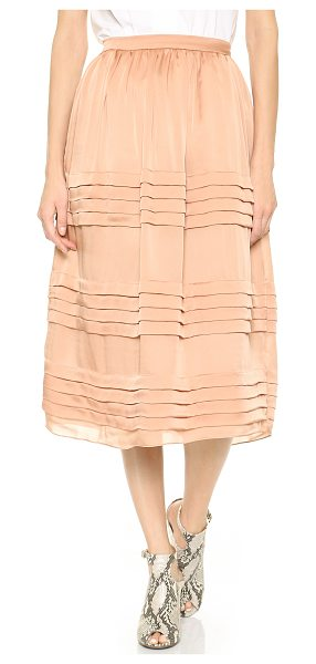 Rochas Tiered silk skirt in beige - Delicate tiers ripple through this lovely Rochas midi...