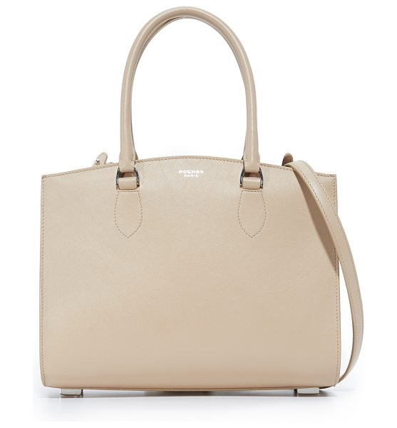 Rochas top handle bag in light beige - A structured Rochas bag in smooth leather. Unlined,...