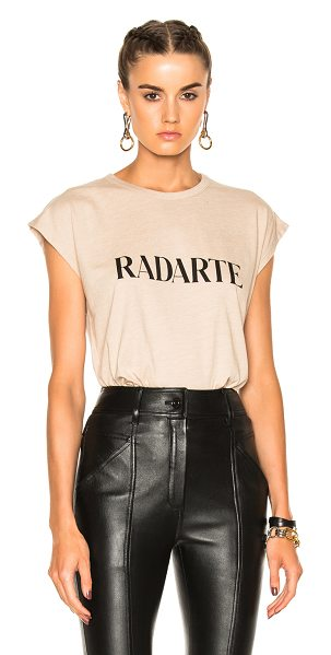 RODARTE Radarte Slouchy Tee - 50% poly 38% cotton 12% rayon. Made in USA. Machine...