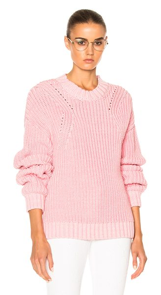 RODEBJER Beauvoir Sweater in pink - 55% cotton 45% polyamide.  Made in Bulgaria.  Dry clean...