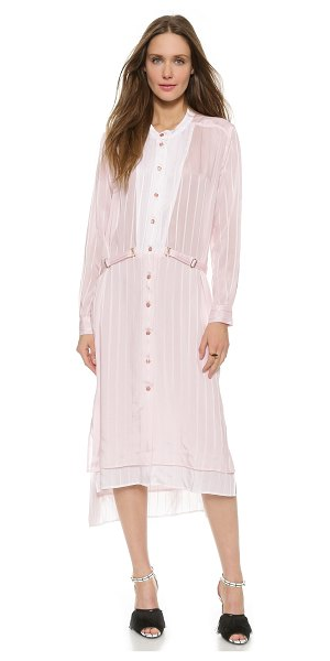 RODEBJER Khotar dress - Subtle pinstripes accent this Rodebjer shirtdress with...