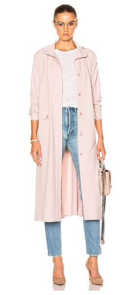 RODEBJER Odessa Coat in pink - 63% poly 32% viscose 5% elastan.  Made in Lithuania. ...