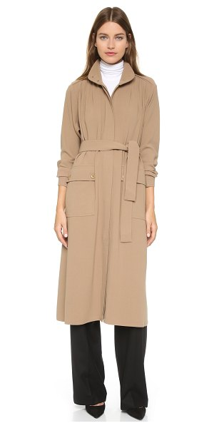 RODEBJER Odessa coat in clay - An effortless Rodebjer coat cut from airy crepe. An...