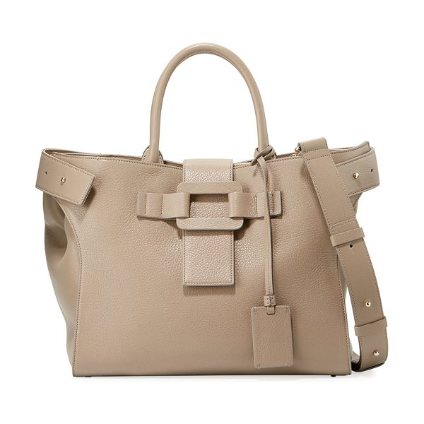 "ROGER VIVIER Cabas Pilgrim de Jour Medium Calf Leather Satchel Bag - Roger Vivier ""Pilgrim de Jour"" satchel bag in pebbled..."