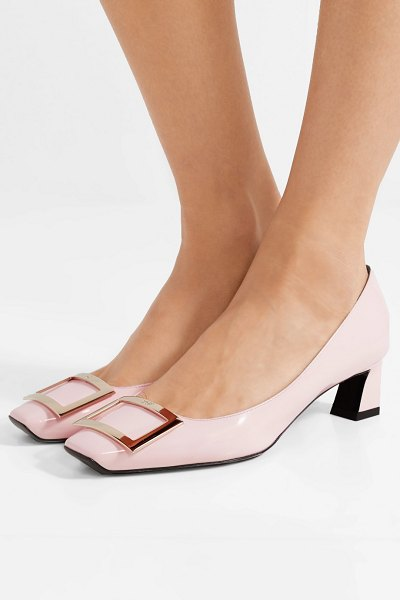 Roger Vivier trompette patent-leather pumps in pastel pink - Roger Vivier's 'Trompette' pumps are one of the brand's...
