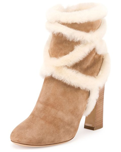 Roger Vivier Trompette Shearling 100mm Bootie in camel - ONLYATNM Only Here. Only Ours. Exclusively for You....