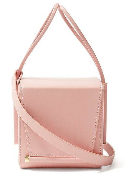 Roksanda box leather cross body bag in light pink - Roksanda - The Box clutch is a leading accessory for...