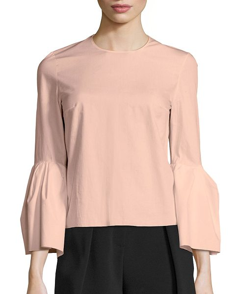 Roksanda truffaut bell sleeve blouse in peony - Cotton-blend blouse with stylish bell sleeves....
