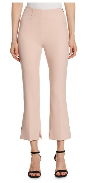 Roland Mouret goswell cropped trousers in light pink - Cropped stretch pants with slightly flared hems. Side...