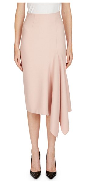 "Roland Mouret Morpeth Crepe Pencil Skirt with Asymmetric Side Drape in light pink - Roland Mouret ""Morpeth"" crepe skirt with an asymmetric..."