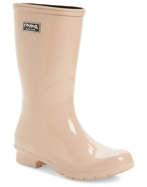 roma 'emma in blush - Take on cloudy days in style in a glossy natural-rubber...
