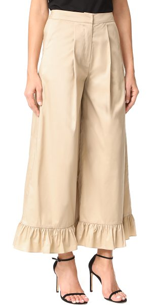 Romanchic bottom ruffle pants in beige - NOTE: Runs true to size. Voluminous ruffles add feminine...