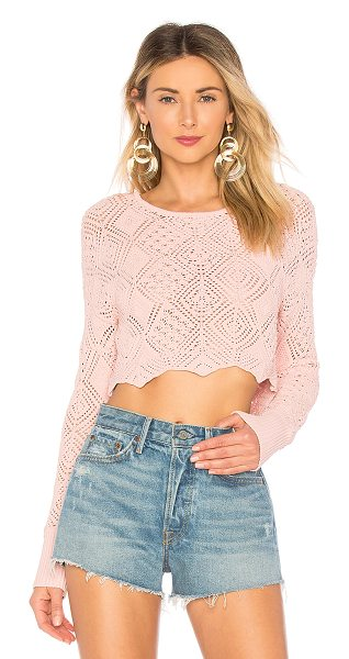 Ronny Kobo Avia Sweater in pink - Viscose blend. Hand wash cold. Open knit fabric....