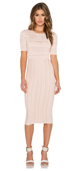 Ronny Kobo Christina Dress in blush - Cotton blend. Fully lined. Elastic stretch fit....