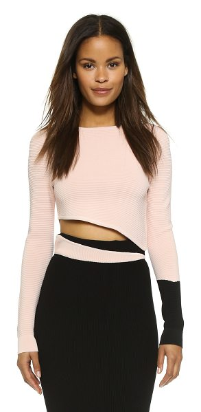 RONNY KOBO Helouise crop top - This slant cropped Ronny Kobo pullover is punctuated...