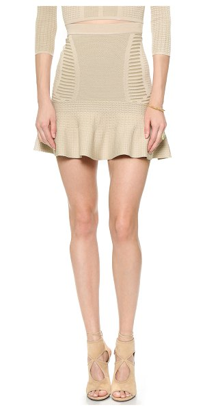 Ronny Kobo Joni skirt in khaki with bone - Mixed stitches bring texture and pattern to this Ronny...