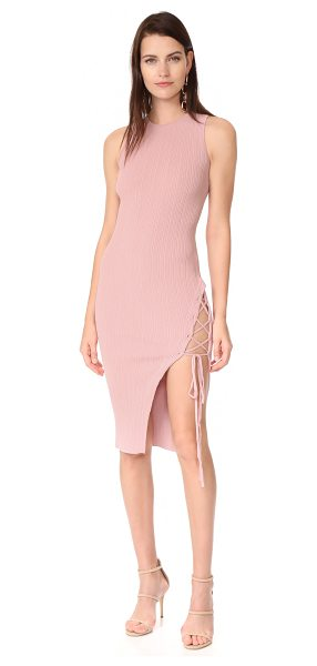 RONNY KOBO monica dress - A ribbed Ronny Kobo sheath dress with edgy lace-up...