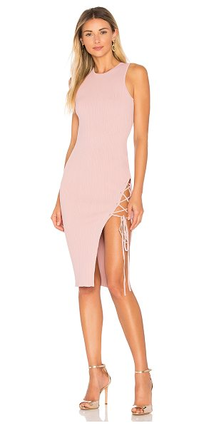 Ronny Kobo Monica Dress in pink - 83% viscose 17% poly. Hand wash cold. Unlined. Ribbed...