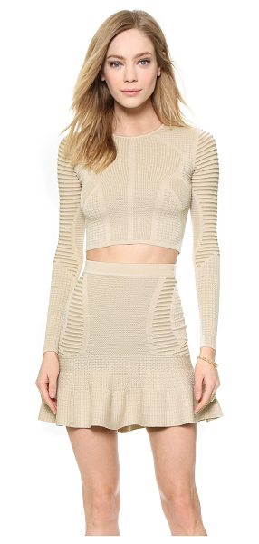 RONNY KOBO Oli crop top in khaki with bone - A fitted, lightweight Ronny Kobo crop top in a mix of...